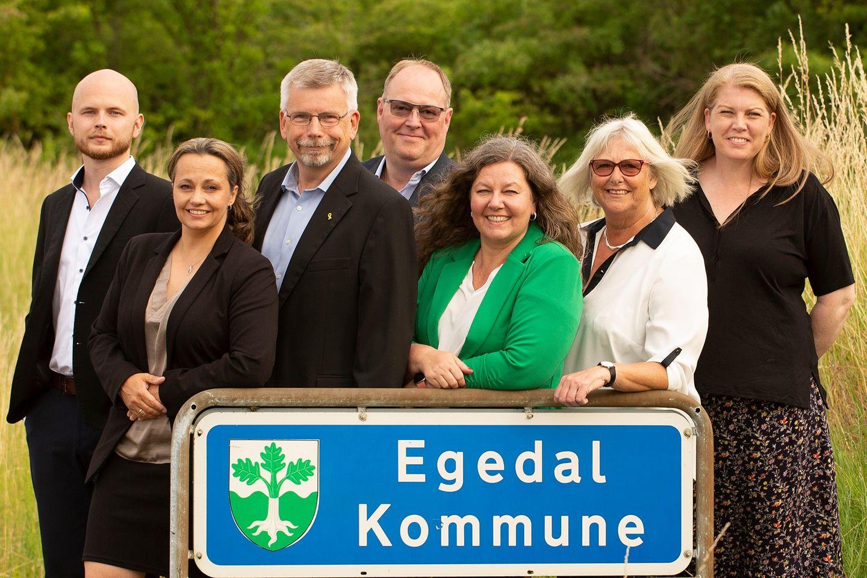 Konservative Egedal kandidater til kommunalvalg ved Egedal kommune byskilt